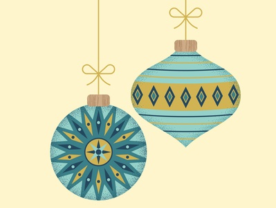 Baubles graphic christmas surface pattern graphics pattern illustrator print design illustration