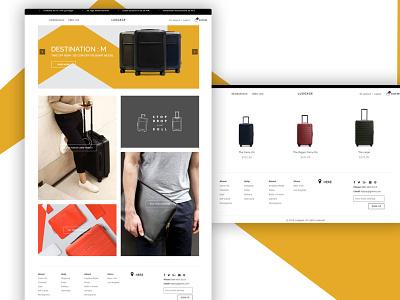 Luggage Website Design design