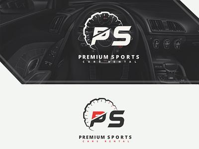 Ps car rentals logo design logo