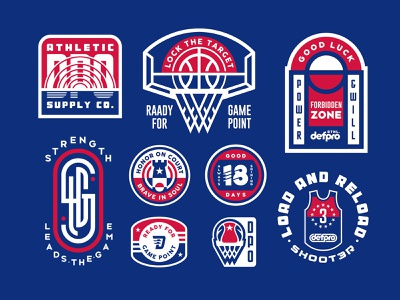 ALL ABOUT the COURT court sport sports sports branding sports logo basketball badgedesign badges design vintage logo type font