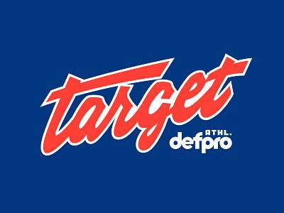 target illustration branding design old type vintage logo handdraw type font
