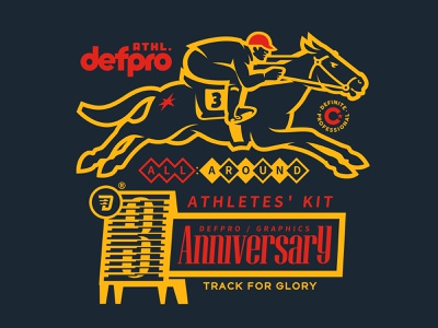 all-around athlete glory race speed horse old type branding font type design illustration vintage logo mascot
