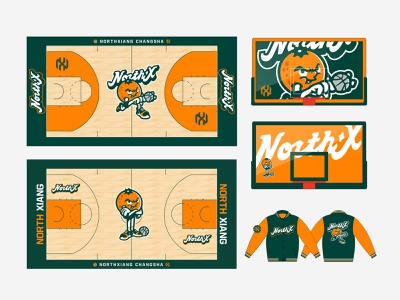 the court STUFF jacket youth league orange court basketball court basketball sports logo sports type design cute vintage old cartoon font mascot
