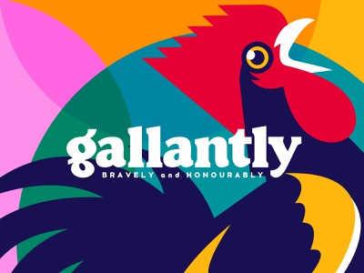 GALLANTLY branding vintage design old type logo font mascot