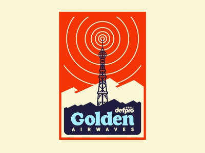 golden airwaves 90s 80s retrowave retro ui old type vintage type