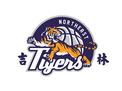 northeast tigers mascot font old type