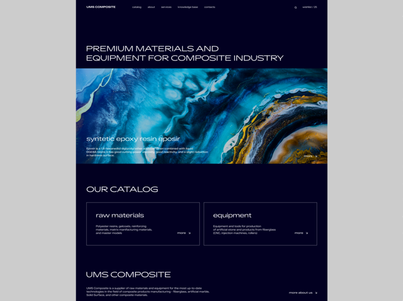 #composite materials online store background abstract desktop minimal grid dark ui ecommerce design web typography ux ui
