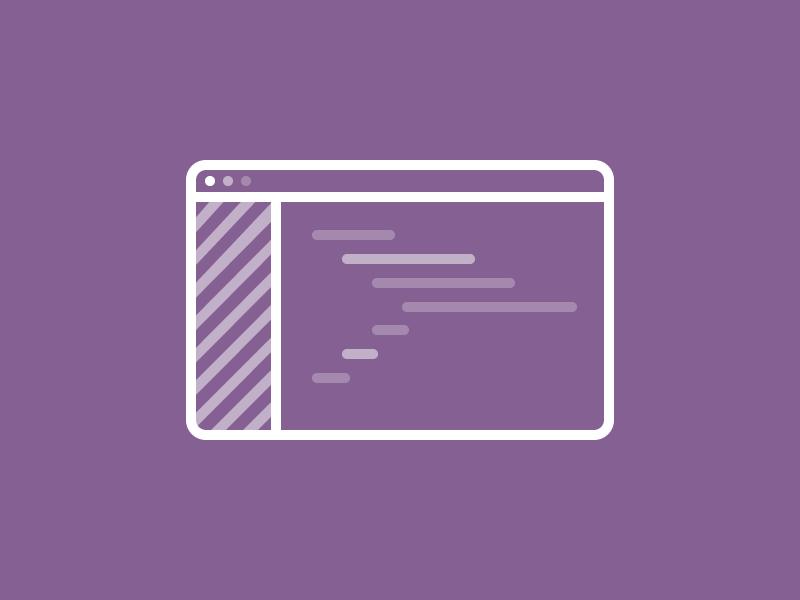 Code Icon icon line minimal code text editor editor programming designer mac ox browser