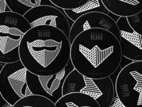 Modern Beard Stickers