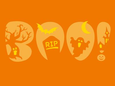 Boo Pumpkin Stencil
