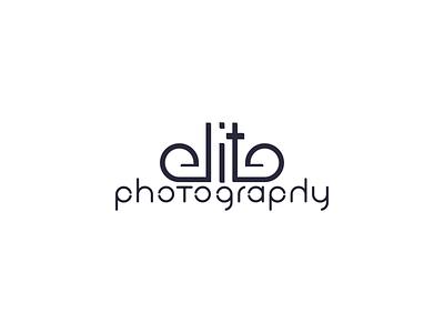 Elite Photography Logo typography logo typography mark identity icon logo design branding brand identity logo