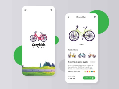 Crazykids Bikes ui design ux ui