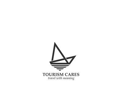 Tourism Cares minimalistic logo design brand identity branding logo