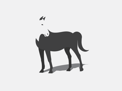 Horse illusion minimalistic logo design brand identity branding logo