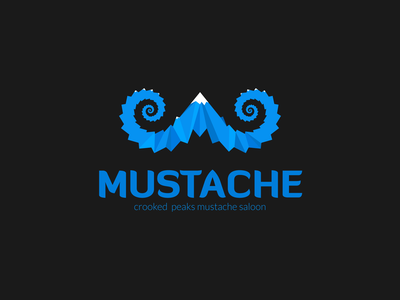 Crooked Mustache smart contemporary illustration logo design saloon brand identity logo branding