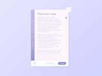 Daily UI #089 - Terms of service