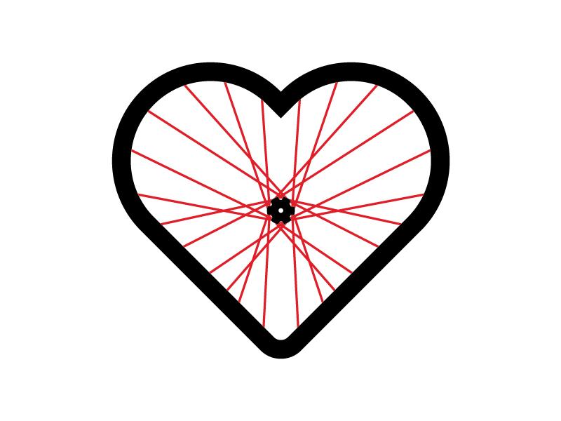 Image result for heart on bike