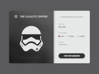 Daily UI #001 Stormtrooper Registration UI