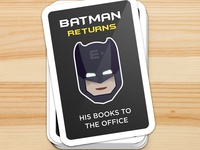 Library book sticker for Entri