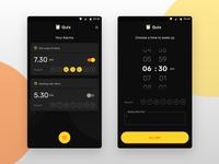 Quix Alarm App UI