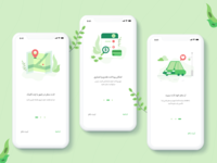 Ride Hailing Service onboarding screen