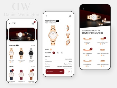 Daniel Wellington Mobile App Design