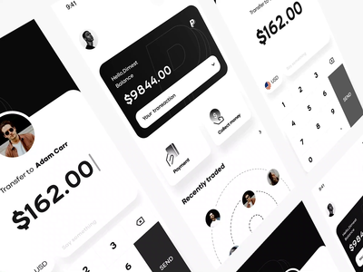 💵 finance money cash dimest card motion animation app ux ui