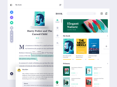 Reading for ipad card ipad reading book web dimest app ux ui