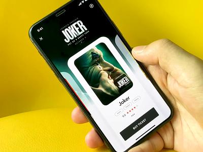 Movie 2.0 joker movie dark clean card flame motion animation dimest app ux ui