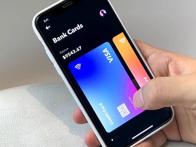 Bank cards 3.0 smooth bank app uxdesign uidesign darkmood dimest design dark card flame motion animation app ux ui