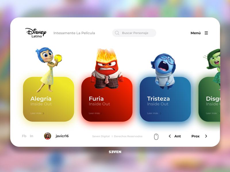 UI Disney Latino web ui design branding