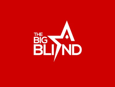 The Big Blind Logo •  America's Cardroom typography vector logo