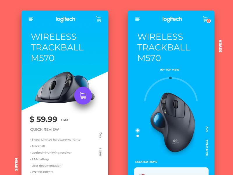 UI Design for Logitec app website ux minimal web design ui branding