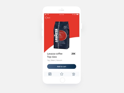 App for a coffee shop ux ui ecommerce mobile minimal coffe food clean flat app