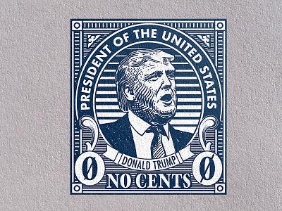 Trump Stamp (v.2) stamp postage protest trump