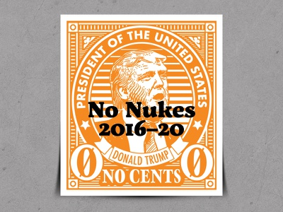 Trump Pre-Cancel Stamp postal protest no nukes donald trump