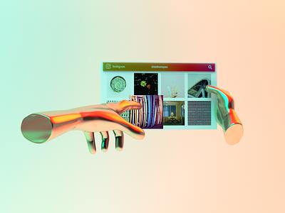 InstagramXR Concept virtual reality vr xr inspiration socialmedia social instagram illustration 3d graphic design ui design