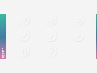 NeuIcon Neumorphism Icons vector illustration icon 3d ux graphic design design ui