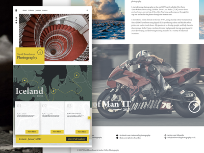 David Boardman Photography photography white space website web ux ui journal layout homepage grid clean bold