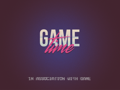 Game Time mark sign video typography tv branding product logo design icon broadcast brand identity game
