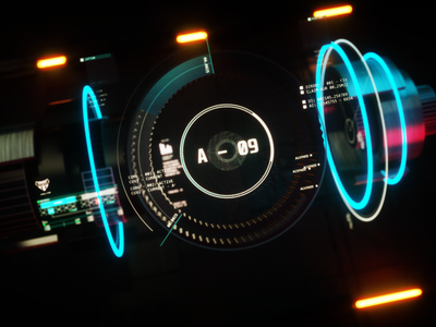 A-09 Repair module UI cinema4d sci-fi future graphic design motion graphics ui fui 3d