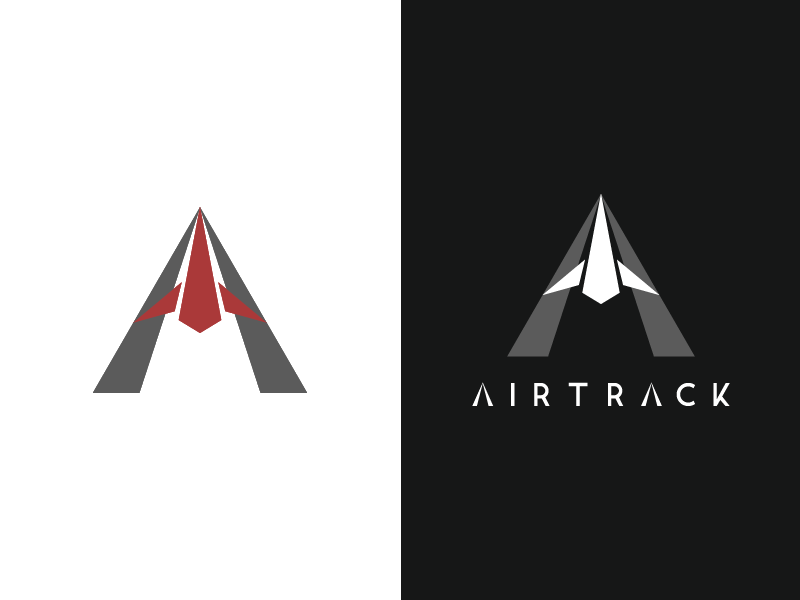 Airtrack - Daily Logo Challenge custom typography logo design challenge logo daily dailylogochallenge airtrack