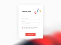 Order Tracking UI Form