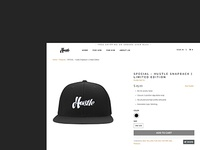 Product Page Design of HustleHat