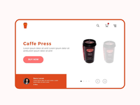 Online coffee shop landing page