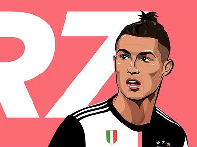 Ronaldo cr7 juventus vector illustration ronaldo