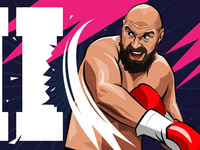 Tyson Fury fury sport illustration wilder tyson fury boxing