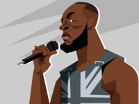 Stormzy character vector illustration singer grime british music rap stormzy