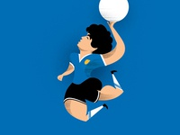 Diego Maradona illustration