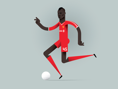 Mario Balotelli mario balotelli football illustration soccer balotelli liverpool lfc striker